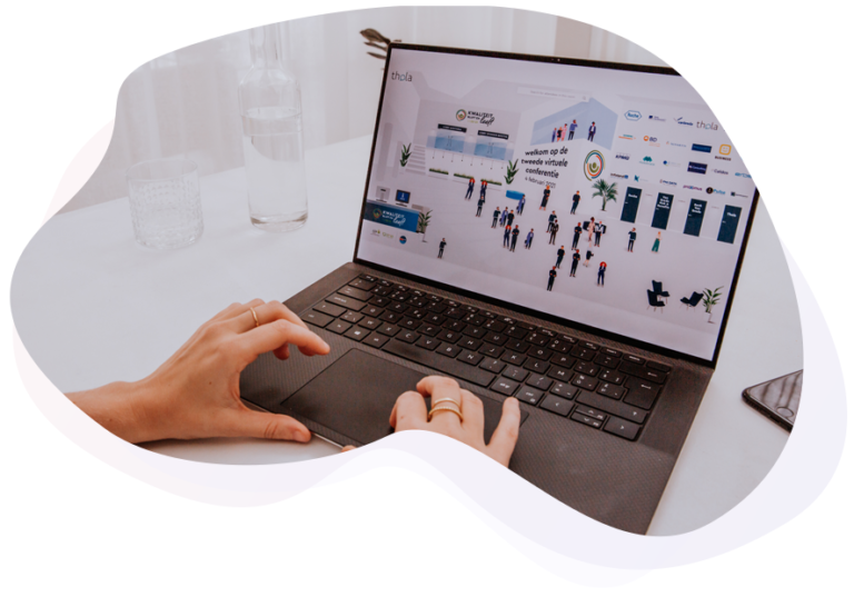 Thola virtual event platform with a near real live event experience