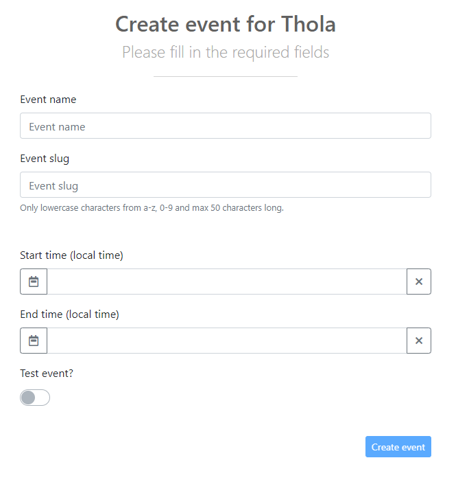 Create my own event