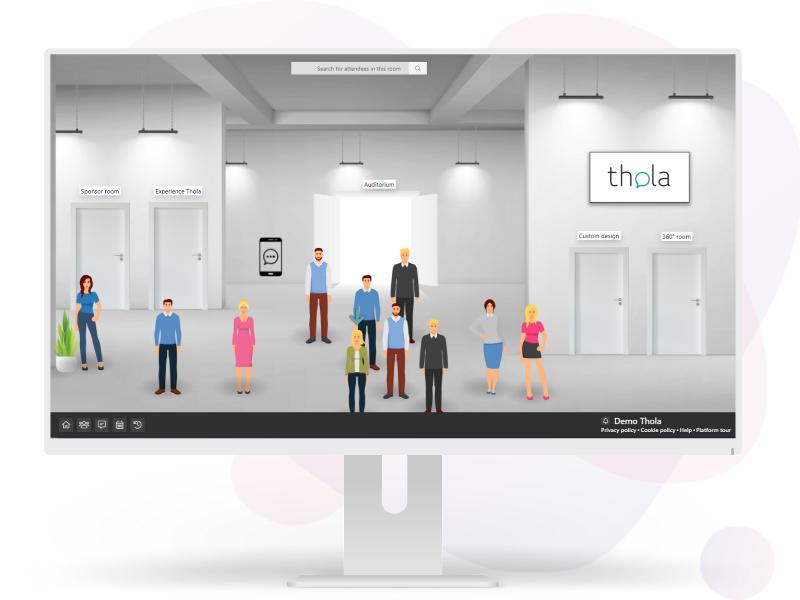 Virtual events desktop version